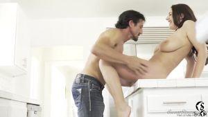 Невозмутимый секс на кухонном столе